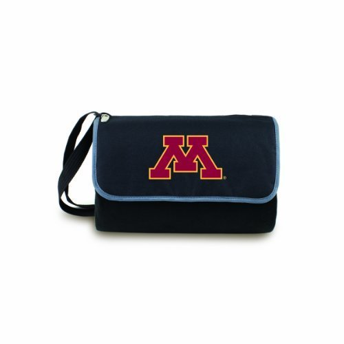 NCAA Minnesota Golden Gophers Outdoor Picnic Blanket Tote, Black