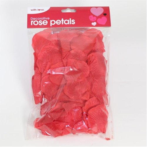 Valentines Day 180 Piece Romantic Decorative Red Rose Petals