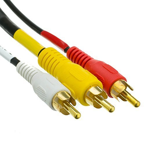 CableWholesales StereoVCR RCA Cable 2 RCA Audio RCA RG59 Video Gold plated Connectors 6 foot