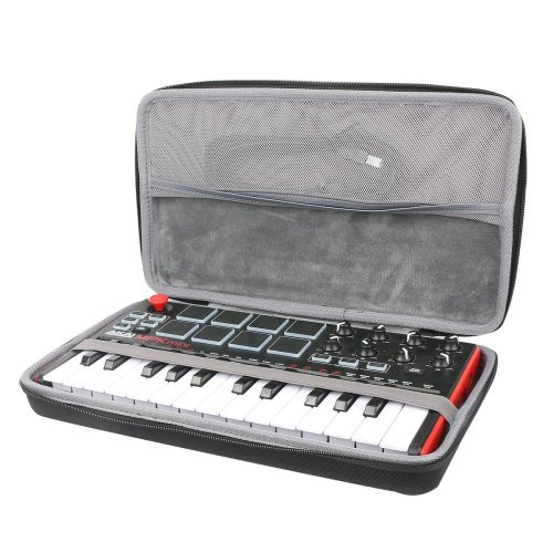 Travel Hard Case for AKAI MPK Mini MKII 25-Key Portable USB MIDI Keyboard