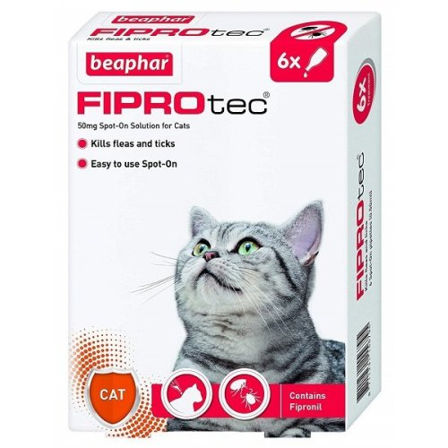 FIPROtec Spot-On Cat - 6 Pipettes