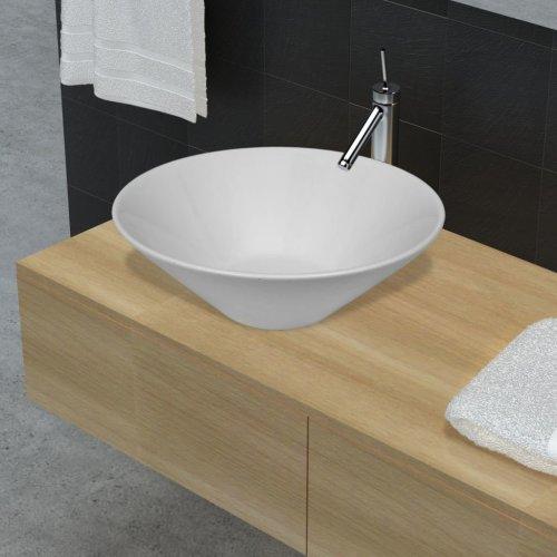 Bathroom Porcelain Ceramic Sink Art Basin Bowl White
