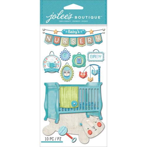 Jolee's Le Grande Dimensional Stickers-Baby Boy - Nursery