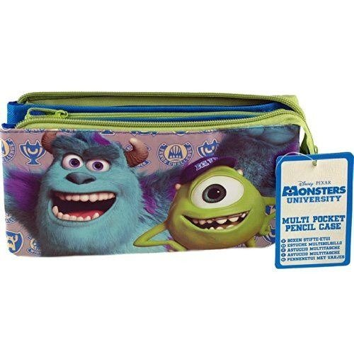 Monsters University 3 Pocket Pencil Case