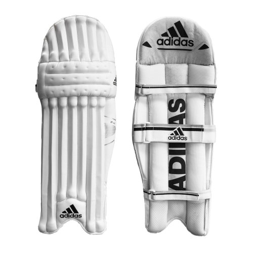 adidas XT 4.0 Kids Cricket Batting Pads Leg Guards Protection White/Black