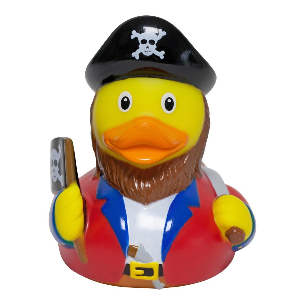 Lilalu Pirate Captain Rubber Duck Bathtime Toy on OnBuy