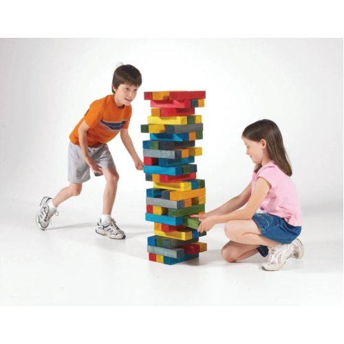 Deluxe Giant High Tower Wooden Blocks, Set Of 60