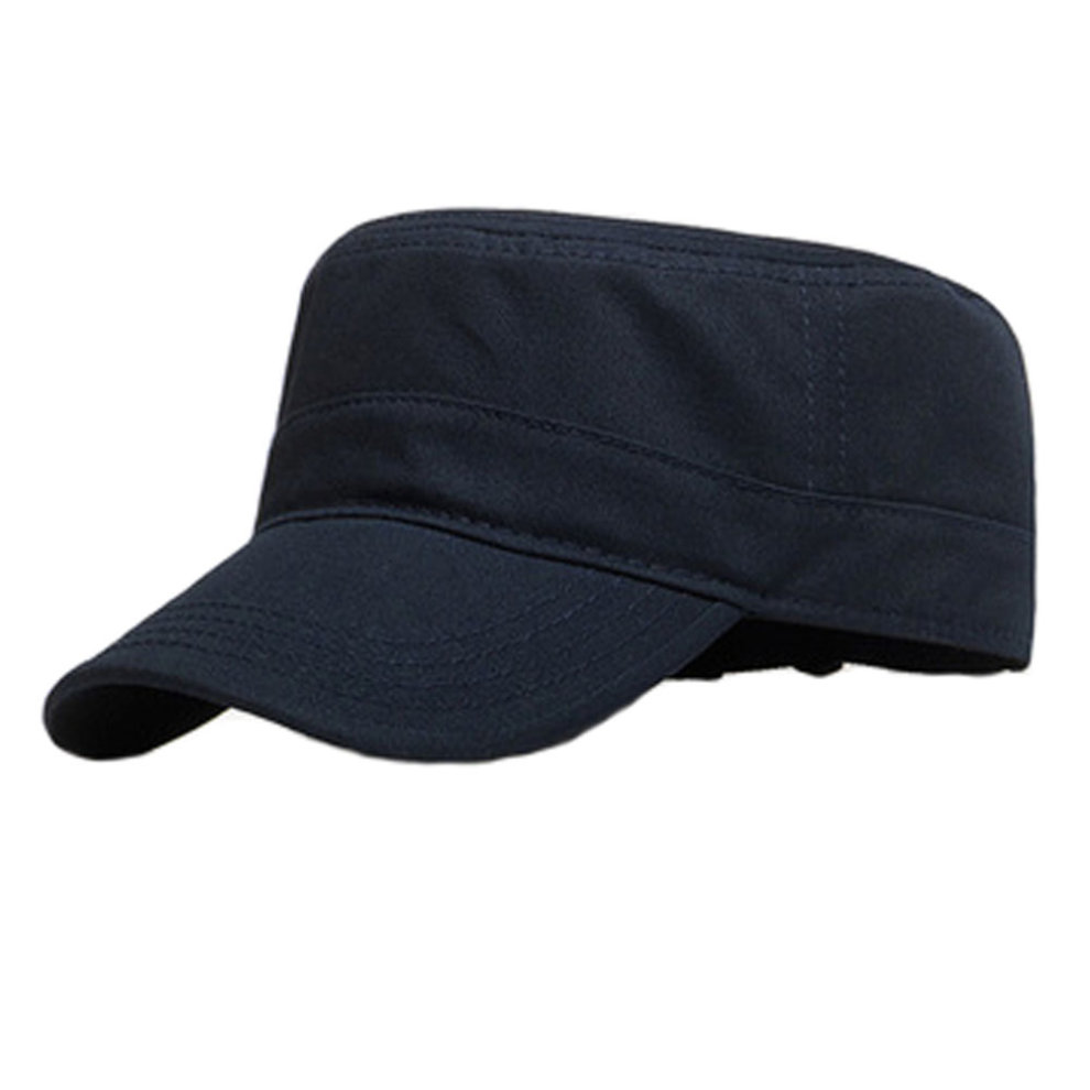 Fashion Fitted Cap Flexfit Hat Sports Hats- Navy Blue