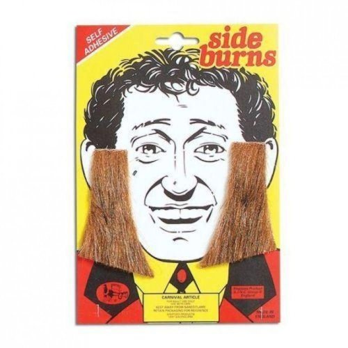 Sideburns. Brown.