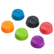 TRIXES Pack of 6 Silicone Bottle Caps Assorted Colours