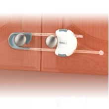 Cabinet Slide Lock White