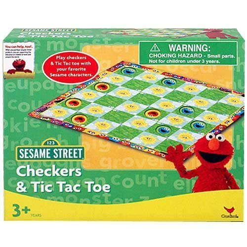 Sesame Street Checkers and Tic Tac Toe