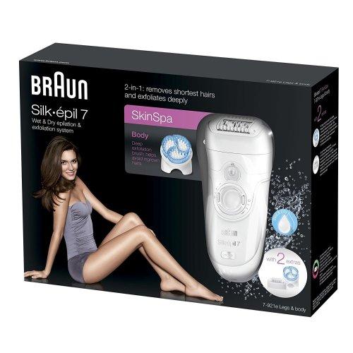 Braun Silk-epil SkinSpa 7-921e Epilator & Exfoliation System Wet & Dry