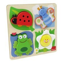 Goula Countryside Fabric Wooden Puzzle (4 Pieces)