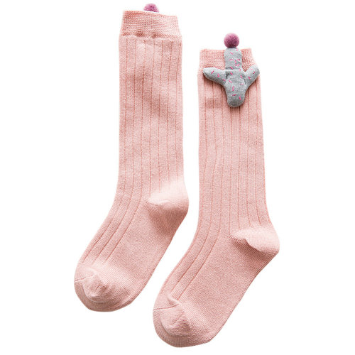 2-4 Years Old Baby Girl Stocking Knit Knee High Cotton Socks [B]