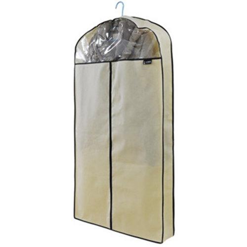 Fashion Garment Bag Clothing Dustproof Bags 3D Suit Cover Buggy Bags Beige