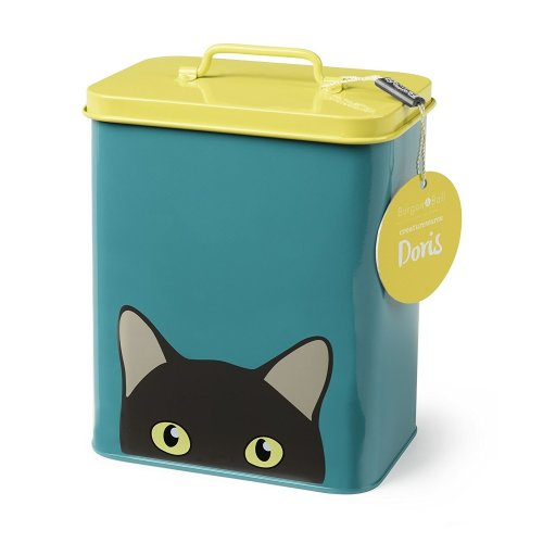 Pet Food Tin - Doris Cat Tin - Cat Food Storage Tin