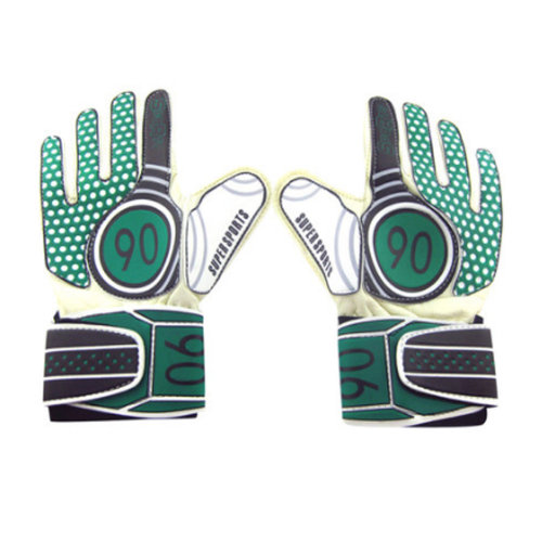 Breathable Adults Football Receiver Gloves, (Green/Black, M)