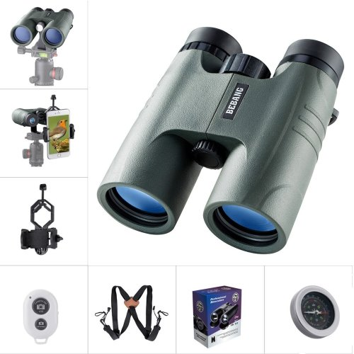 BEBANG Binoculars for Adults Bird Watching, 10X42 Compact HD Professional, BAK4 Prism FMC Fully Multi Coated Lenses, With a Smartphone Adapter,...