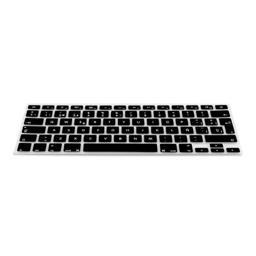 kwmobile silicone protection for QWERTY (Spain) keyboard for Apple MacBook Air 13''/ Pro Retina 13''/ 15'' (to Mid 2016) black