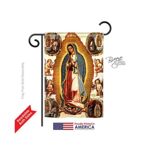 Breeze Decor 53057 Our Lady of Guadalupe 2-Sided Impression Garden Flag - 13 x 18.5 in.