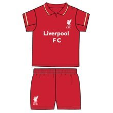 Liverpool Unisex Official Shirt And Shorts Set, Multi-colour, 6-9 Months