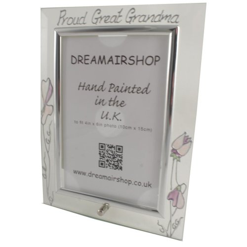 Proud Great Grandma Photo Frame Portrait (Sweet Pea)