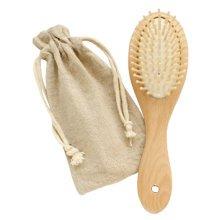 Premium Durable Circula Wooden Hair Comb Afro Pick Anti-static Combs (22*6.3 CM)