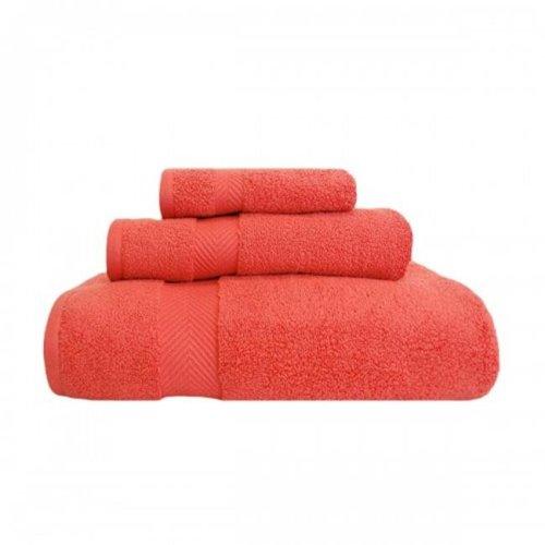 Superior ZT 3 PC SET CO Zero Twist Cotton Towel Set - Coral, 3 Pieces