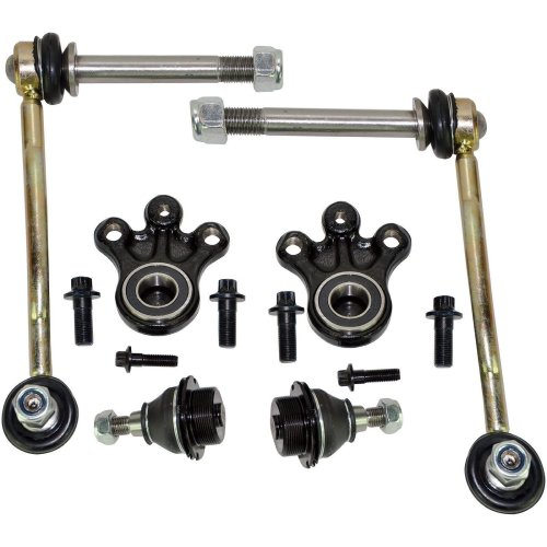 FOR PEUGEOT 407 508 FRONT SUSPENSION LOWER & UPPER BALL JOINTS + DROP LINKS KIT