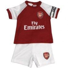 Official Arsenal Baby Core Kit T-shirt & Shorts Set - 2017/18 Season (6-9 - -  arsenal baby core tshirt shorts set 201718 season