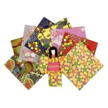 Japanese-style Origami Paper Pack of 72 Pieces - 14.5x14.5 cm