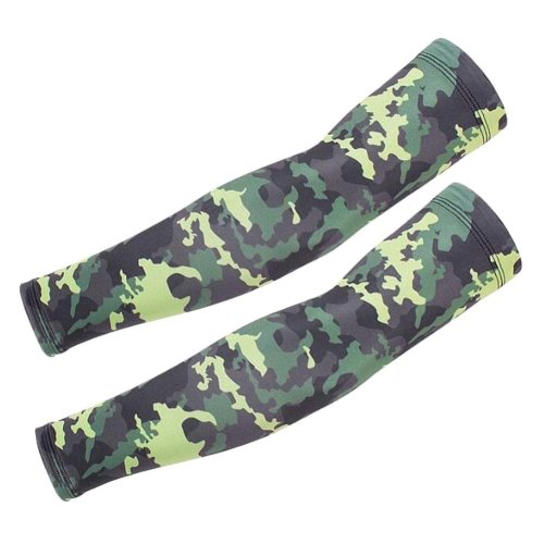 Camouflage Ice Silk Sun Protection Sleeves,Riding,Fishing,Arm Guard,A01