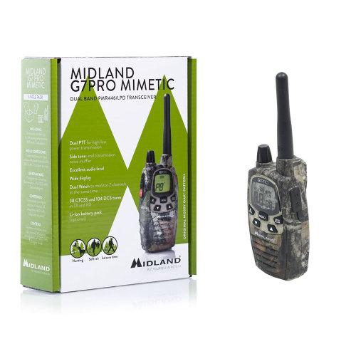 Portable PMR / LPD radio station Midland G7 PRO Single Mimetic Code C1090.15