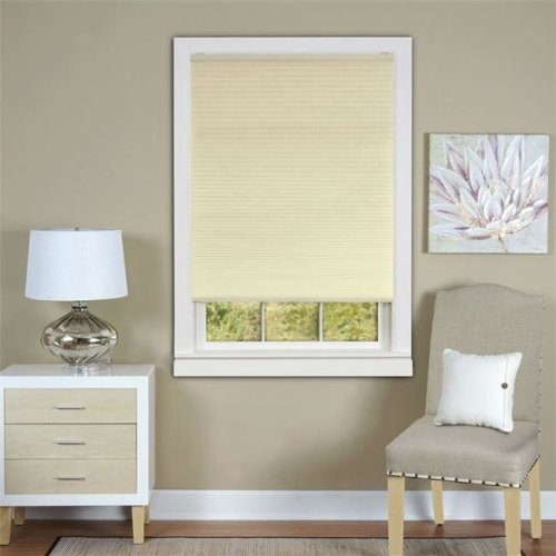 Honeycomb Cellular Alabaster Pleated Cordless Shade 31x64