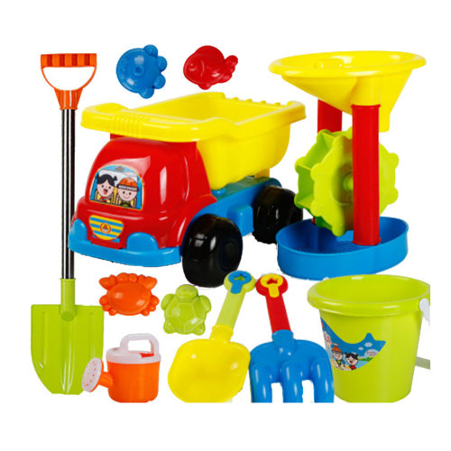 11 Piece Beach sand Toy Set, Bucket, Shovels, Rakes,Perfect for Holding Childrens' Toys#C