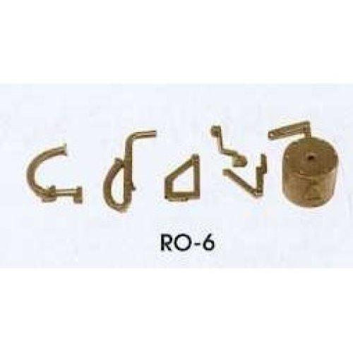 O gauge Dean Churchward Vacuum Brake Fittings & pipes - Peco RO-6 - F1