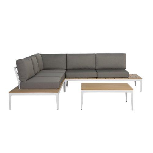 5 Seater Garden Sofa Set Grey POSITANO