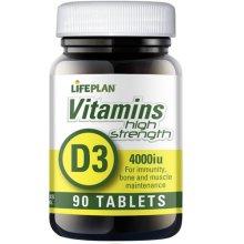 Lifeplan  Vitamin D3 4000Iu Tablets 90s