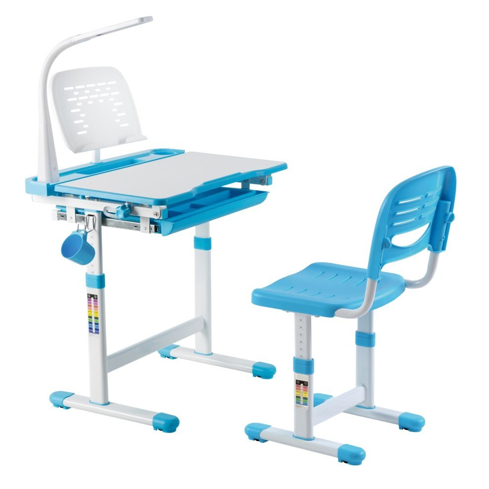 Height Adjustable Kids Study Desk Chair Ergonomic Children