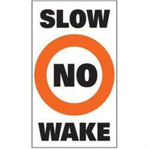 Taylor 3005.0701 Slow No Wake Buoy Labels - Pack of 2