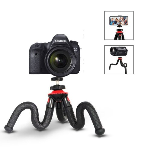 Flexible Tripod, ELOKI Mini Travel Tripod Camera Phone Tripod with Bluetooth Control for Canon Sony Nikon DSLR & Gopro Action Cam & Samsung/...