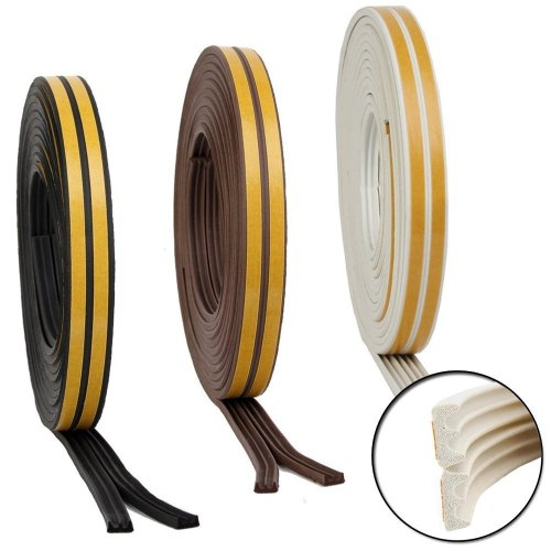 Easyfix EPDM Brown Rubber E-Strip Draught Excluder