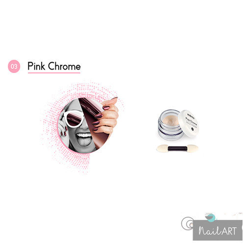 Andreia Professional Pink Chrome Nails Powder