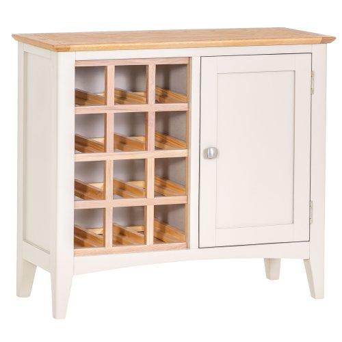 Malvern Shaker Ivory Painted Oak Wine Cabinet