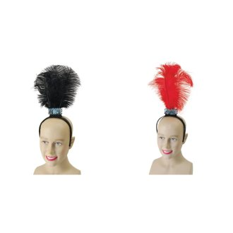 Bristol Novelty Flapper Headband With 3 Feathers