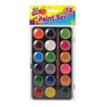 Artbox 18 Colour Paint Box With Brush -  artbox 18 colour paint brush