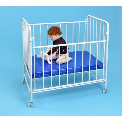 Childrens Drop Sided Nursery Cot - FREE Mattress Included (A1554)