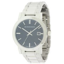 Burberry Large Check Stainless Steel Mens Watch BU9001