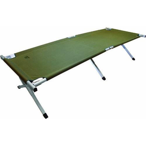 Highlander Aluminium Camp Bed - Olive -